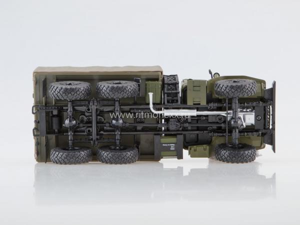 Урал-4320 тент (Наши Грузовики) [1977г., зеленый, 1:43]