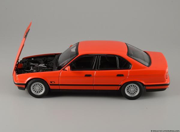 BMW 535i в кузове e34 (Minichamps) [1988г., красный, 1:43]