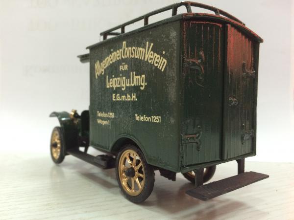 DIXI SM15 Lastwagen (MK modelle (ГДР, 1979 год.)) [1907г., тёмно-зелёный, 1:25]