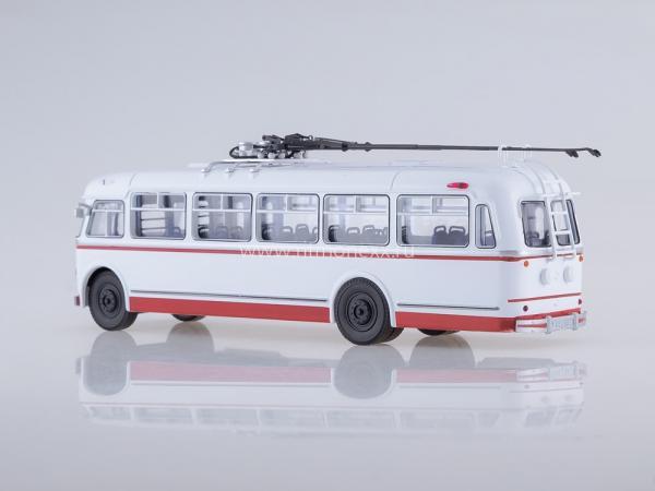 """КТБ-4 """" Киiв (Советский автобус) [1963г., белый/красный, 1:43]"""