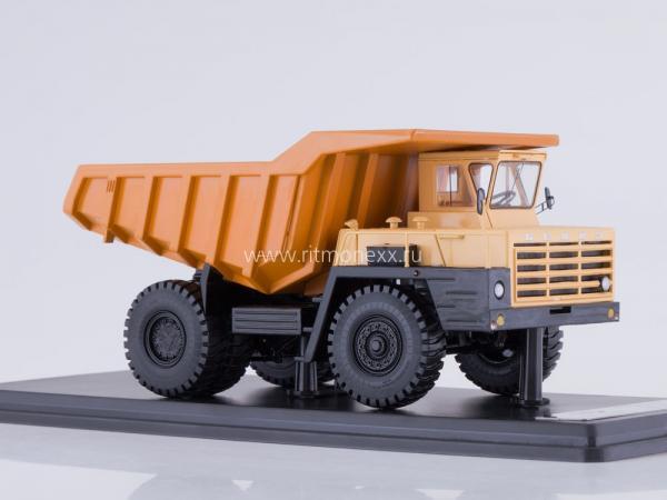 БЕЛАЗ-540А (Start Scale Models (SSM)) [1967г., бежевый/коричневый/черный, 1:43]