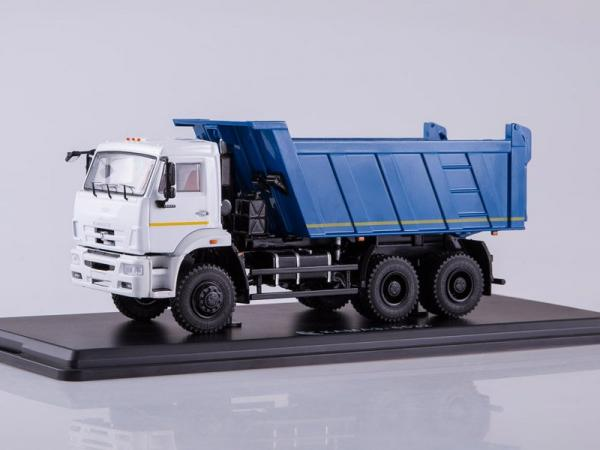 КАМАЗ-6522 6x6 самосвал (рестайлинг) (Start Scale Models (SSM)) [2010г., белый.синий, 1:43]