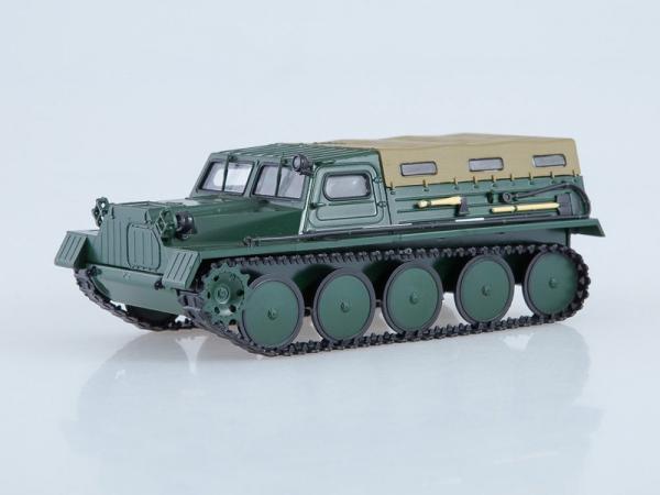 Гусеничный транспортёр-снегоболотоход ГТ-С 47 (Автоистория (АИСТ)) [1970г., зеленый, 1:43]