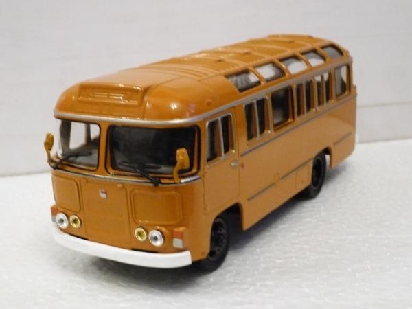 ПАЗ-672М (Советский автобус) [1982г., охра с белыми дверями, 1:43]