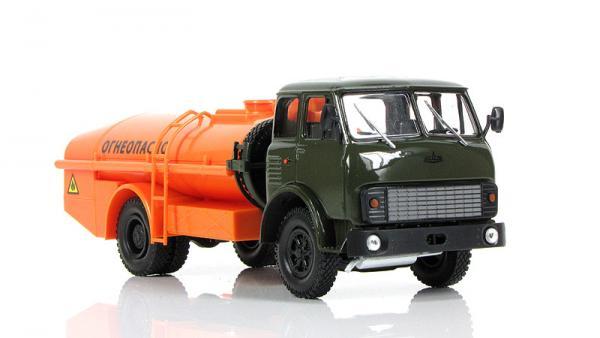 МАЗ-5334 ТЗ-7,5 (Наш Автопром) [1981г., хаки, оранжtевый, 1:43]