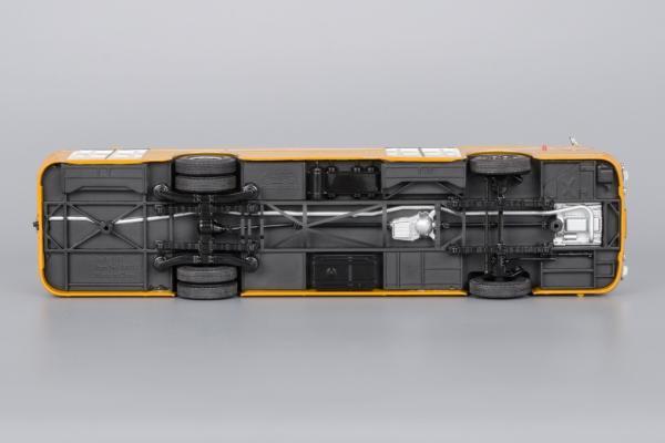 Лиаз-677М (с номерами и маршрутом) (Classicbus) [1883г., Охра, белые двери, 1:43]
