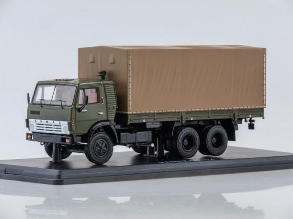 КАМАЗ-53212 (с тентом) (Start Scale Models (SSM)) [1978г., зеленый/коричневый, 1:43]