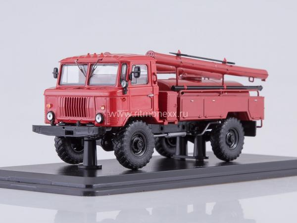 ГАЗ-66 (АЦ-30) (Start Scale Models (SSM)) [1965г., красный, 1:43]