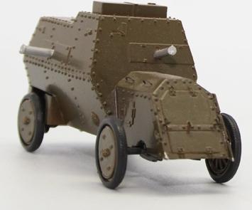 Руссо-Балт С24/40 бронеавтомобиль (Уральский Сокол) [1914г., зеленый, 1:43]