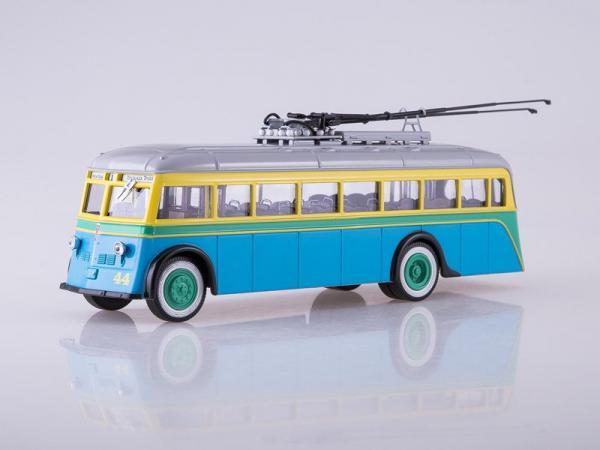 Ятб-1 (Советский автобус) [1937г., синий/зелёный/желтый/серый, 1:43]