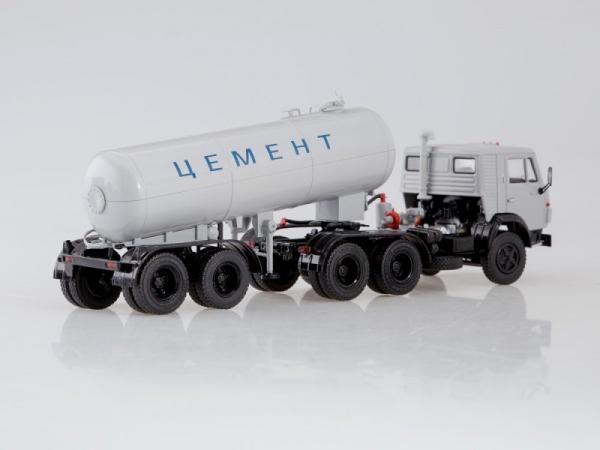 КАМАЗ-54112 с полуприцепом-цементовозом ТЦ-11 (Start Scale Models (SSM)) [1980г., серый, 1:43]