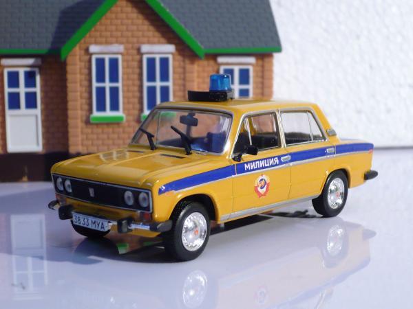 ВАЗ-2106 («Жигули-1600»/«Lada-1600») (Michalych, доработка DeAgostini) [1976г., желтый с синей спецокраской, 1:43]