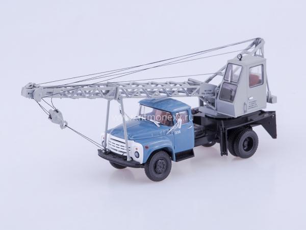 ЗИЛ-130 (АК-75В) Автокран (Автоистория (АИСТ)) [1980г., синий/серый, 1:43]