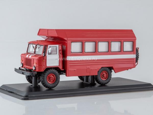 ГАЗ- 66 (КСП-2001) пожарный. (Start Scale Models (SSM)) [2001г., красный/белый, 1:43]