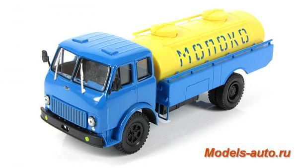 МАЗ-500Б АЦПТ 5,6 Молоко (Наш Автопром) [1965г., голубой с желтым, 1:43]