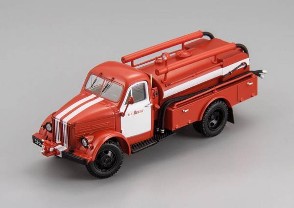 ГАЗ-51 (АЦУ-20)-60 «Колхоз «Искра» (DiP Models) [1962г., красный, 1:43]