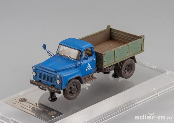 САЗ-3503 с упрощенными бортами кузова (DiP Models) [1978г., зеленый/голубой, 1:43]