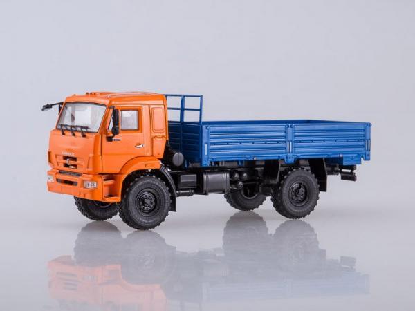 КАМАЗ-43502 (ПАО КАМАЗ) [2005г., оранжевый/синий, 1:43]