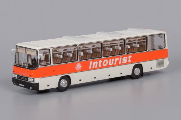 """Икарус(Ikarus)-250.58 """"Intourist (Classicbus) [1980г., белый, красная полоса, надпись """"Intourist, 1:43]"""
