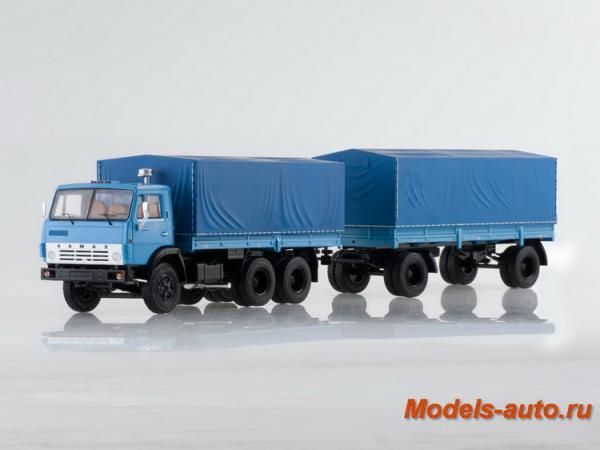 КАМАЗ-5320 с прицепом ГКБ-8350 (ssm) [1970г., голубой, 1:43]