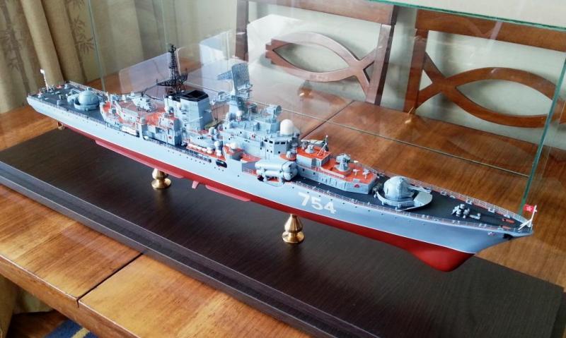 Модель эсминца пр.956 готова 07