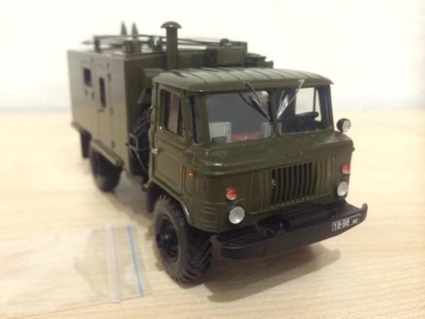 КШМ Р-142Н «Деймос-Н» на шасси ГАЗ-66 (AD-MODUM (АД-МОДУМ)) [хаки, 1:43]