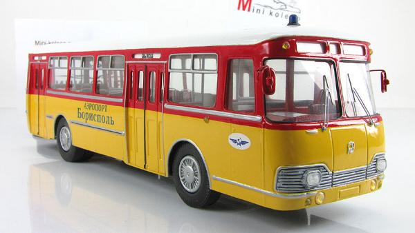 ЛиАЗ-677П перонный (Vector-Models) [1970г., красный/желтый/белый, 1:43]