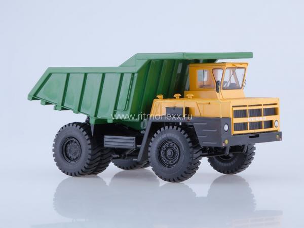 БЕЛАЗ-7522 (Start Scale Models (SSM)) [1978г., бежевый/зеленый, 1:43]