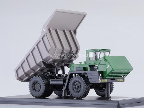 БЕЛАЗ-540А (Start Scale Models (SSM)) [1968г., зеленый/серый, 1:43]