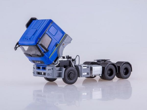 КАМАЗ-65206 седельный тягач (ПАО КАМАЗ) [2015г., синий/серый, 1:43]