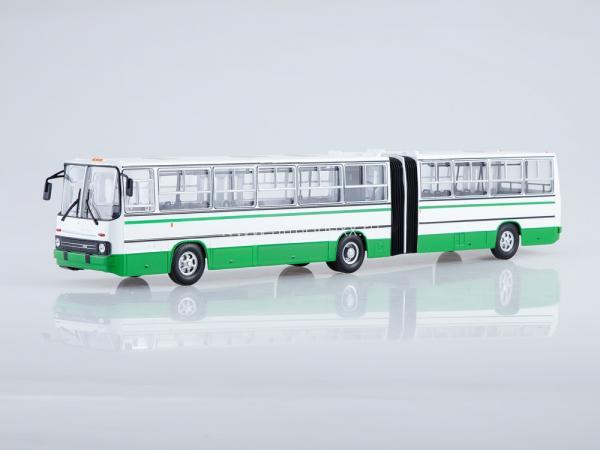 Ikarus-280.33 (Советский автобус) [1990г., белый/зеленый, 1:43]