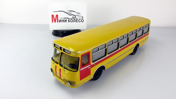 Лиаз-677 техничка (МОСХИМВОЛОКНО (МХВ)) [1967г., желтый/красный, 1:43]