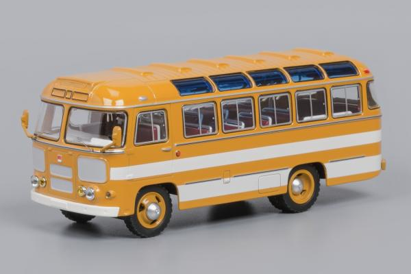 ПАЗ-672 (Classicbus) [1980г., охра, белые полосы, 1:43]
