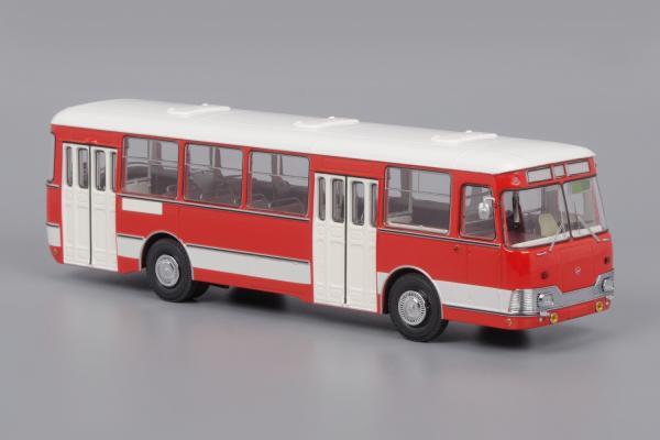 Лиаз-677 экспортный (Classicbus) [1978г., красный, белая полоса, 1:43]