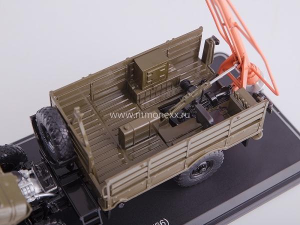 Бурильно-крановая машина БМ-302 на ГАЗ-66 (ssm) [1970г., хаки, 1:43]