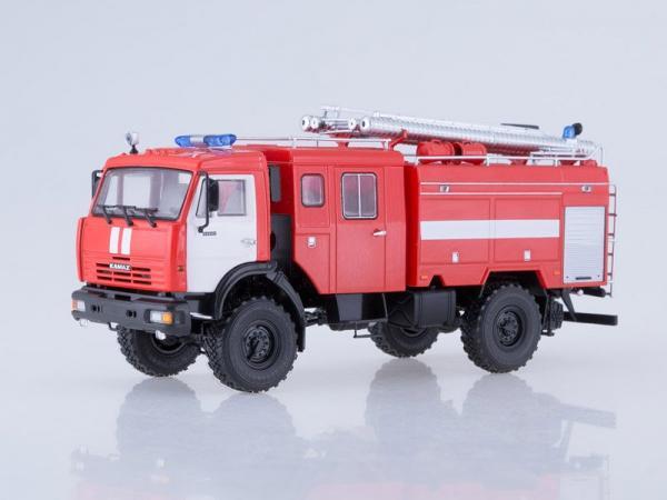 КАМАЗ-43502 (АЦ-3-40) (ПАО КАМАЗ) [2000г., красный/белый, 1:43]