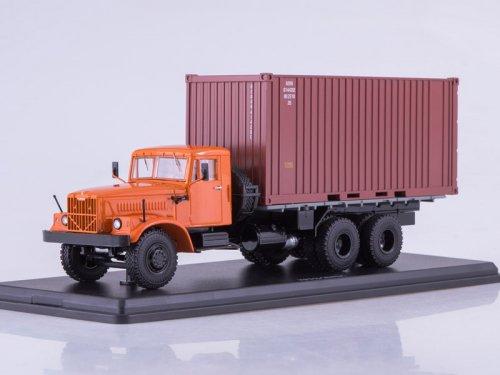 КРАЗ-257Б1 контейнер (Start Scale Models (SSM)) [1980г., оранжевый/бордовый, 1:43]