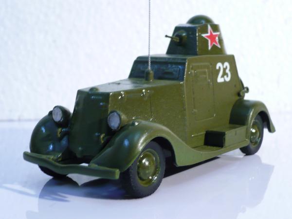 БА-20 (лёгкий бронеавтомобиль) (конверсия АЛ) [хаки, 1:43]