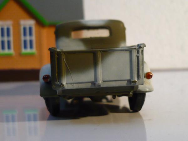 ГАЗ-М-415 пикап - раритетная масштабная модель ручной работы (ДиК) [1939г., камуфляж (зелёный с белым), 1:43]
