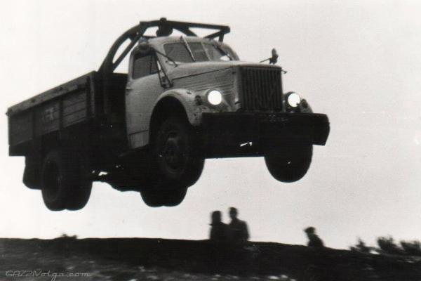 ГАЗ-51А (Michalych) [1955г., комбинированный красный и охра, 1:43]