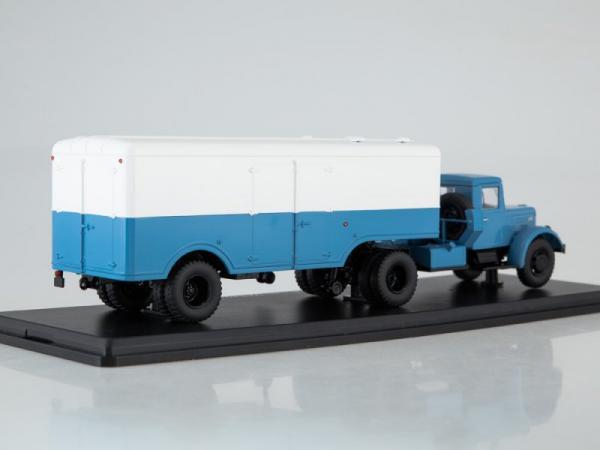 МАЗ-200В с полуприцепом МАЗ-5217 (Start Scale Models (SSM)) [1957г., белый/синий, 1:43]