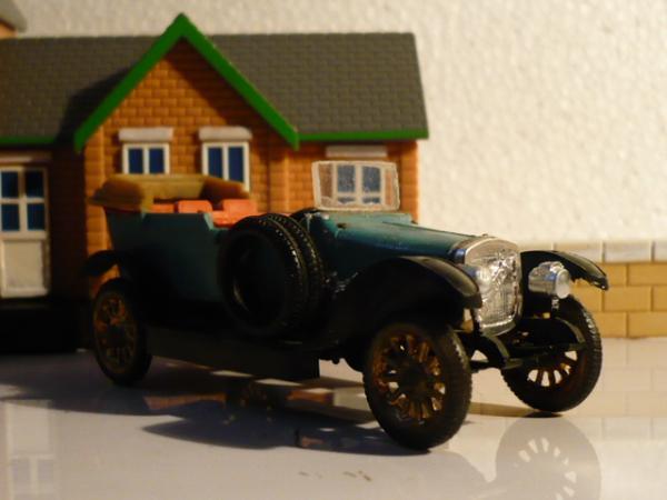 Руссо-Балт С 24/40 (фабрика Кызыл-Ту, г.Алма-Ата) [1913г., светло-зелёный, 1:50]