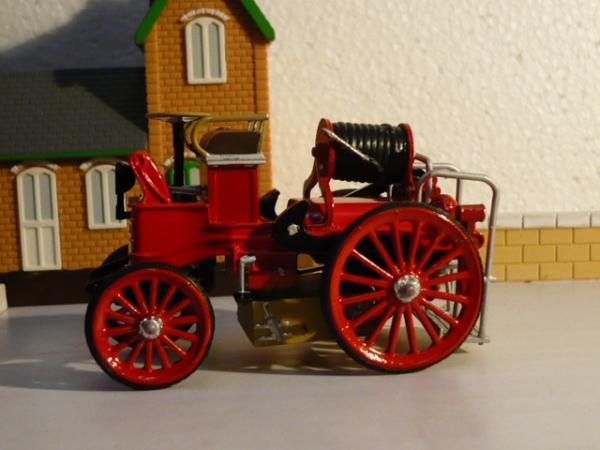 пожарный автомобиль, электрический, Франция (Amer Com) [1900г., красный, 1:43]