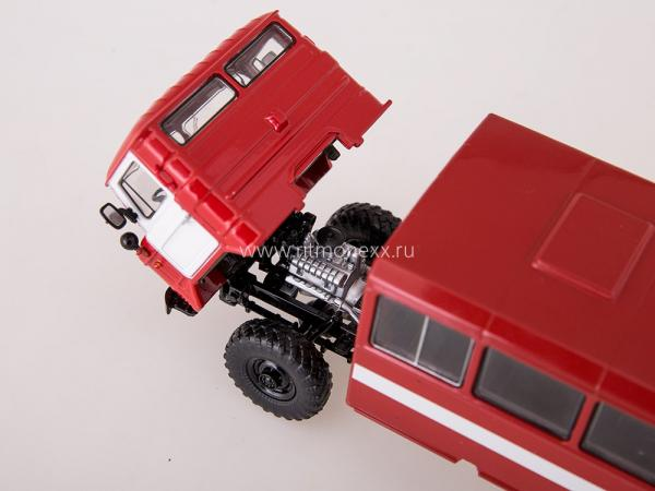 НЗАС-3964 (ГАЗ-66) Вахтовый автобус (Start Scale Models (SSM)) [1966г., красный, 1:43]
