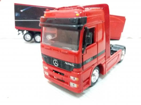 MERCEDES BENZ ACTROS 1857 (New Rey) [1996г., красный, 1:43]