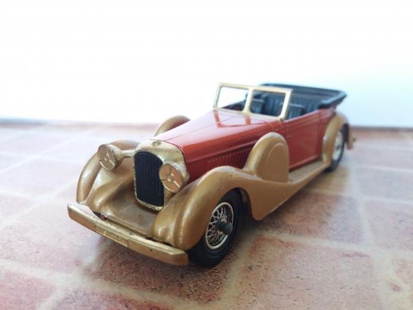 Lagonda Drophead Coupe (Matchbox) [1938г., красный с золотистым, 1:43]