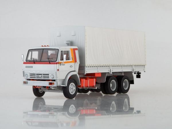 КАМАЗ-53212 с прицепом ГКБ-8350 (Start Scale Models (SSM)) [1978г., белый, 1:43]