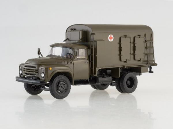 ЗИЛ-130 Дезинфекционно-душевой автомобиль ДДА-2 (ModelPro) [1962г., хаки, 1:43]