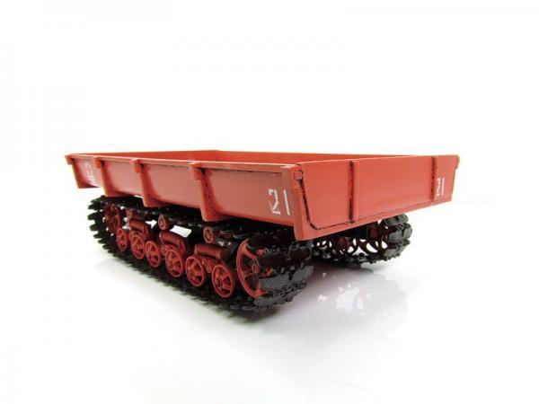 МТП-24Б прицеп гусеничный (Моделстрой) [красный, 1:43]