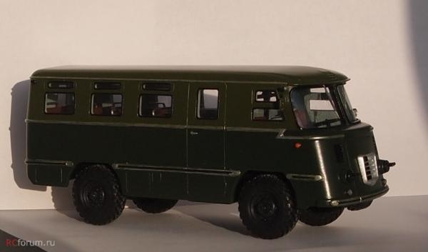 АС-38 опытный (ручная работа Борцов) [1965г., зеленый, 1:43]
